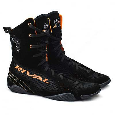 Rival Boxing RSX-ONE Boxing Boots - Black Orange