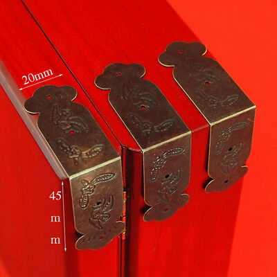 4X Antique Brass Edge Corner Protector Bumper Guard Jewelry Wood Gift Box Decor