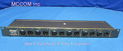 Hosa PDR-369 12 Point Straight Through Patchbay w/ Male/Female XLR Connectors