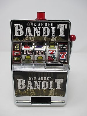 Rec Zone One Armed Bandit Slot Machine Toy Bank
