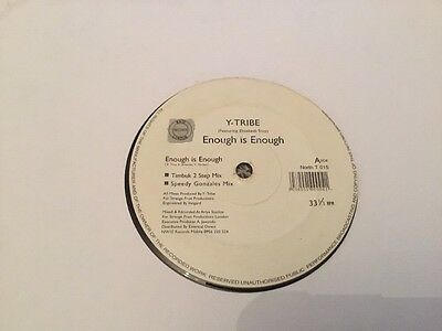 """Listen- Y Tribe - Enough Is Enough- Classic Vocal Old Skool Uk Garage Record-12"""""""