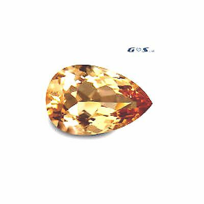 4.31 ct GSL Certified Gorgeous Pear Cut, Natural Morganite Loose Gemstone