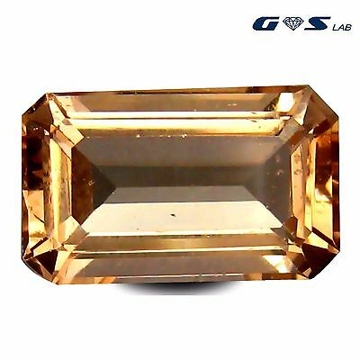 5.35 ct GSL free Certified with value at $400.00 Octagon Cut  Morganite Gemstone