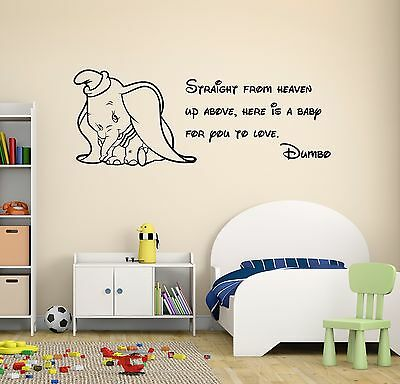 Dumbo Quote Wall Decal Disney Elephant Nursery Decor Art