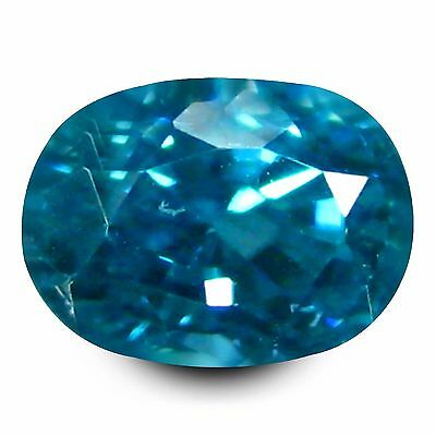 1.44 ct AAA+ Five-star Oval Shape (6 x 5 mm) Natural Blue Zircon Loose Gemstone