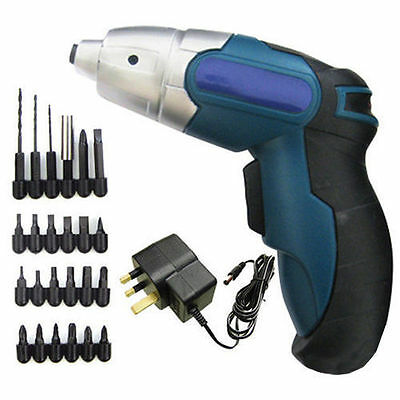 24Pc Cordless Reversible Rechargeable Drill Bit 4.8V Electric Screwdriver Power
