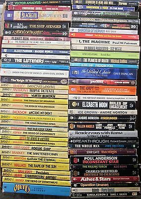 Vintage Mixed Lot of 65 Science Fiction Various Authors Paperbacks (Box #132)
