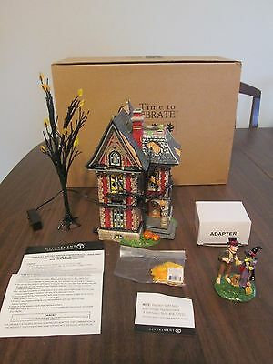 department dept 56 ~ BOO MANSION halloween MIB complete Time to Celebrate