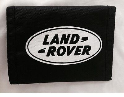 """Land Rover Wallet Black with White Logo 3 1/2"""" x 5"""" Range Rover New"""