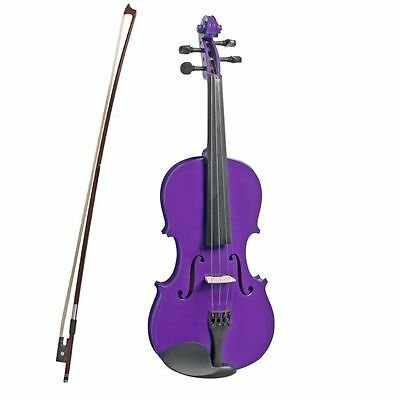 VALENTI  1/2 size violin outfit. Case, bow, rosin included. Metallic Deep Purple