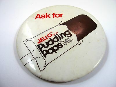 Vintage Collectible Pin Button: JELLO JELL-O Pudding Pops