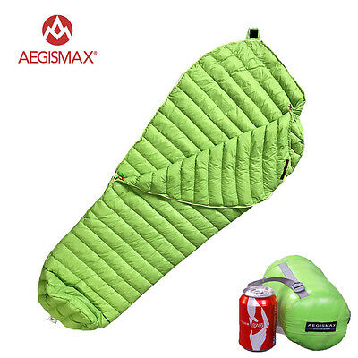 Aegismax 95% Natural Urltra-Light Goose Down Compactable Mummy Sleeping Bag