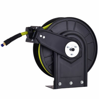 "3/8"" X 50' Retractable Air Compressor Hose Reel 300PSI Auto Rewind New"