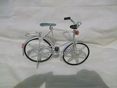 """7"""" x 5.5"""" light metal & plastic bicycle  for display or with 6-7 in doll or bear"""