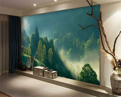 Morning Mist Forest Full Wall Mural Photo Wallpaper Printing Kids Home 3D Decal