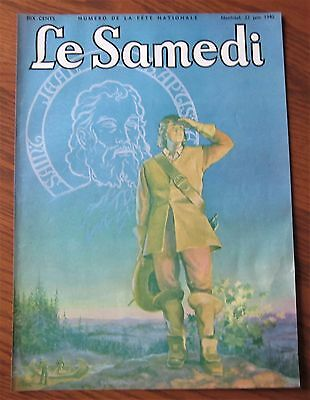 1940 French Canadian Magazine Cover Saint Jean Baptiste Quebec