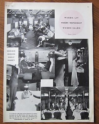 1940 French Canadian One Page Photo Article Interior Canadian Pacific Car