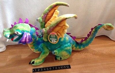 "NEW w/ TAGS ~ Melissa and Doug Giant Plush Dragon ~ 40"" Colorful ~ Great Gift!"