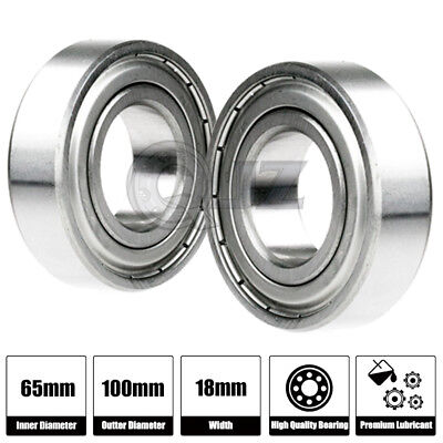6013ZZ Bearing 65x100x18 Shielded Metric Ball Bearings