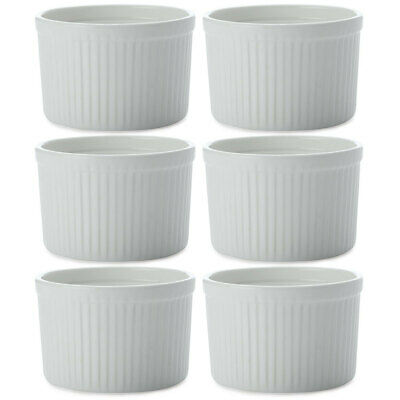 6pc Set Maxwell & Williams White Basics Ramekin Dish/Bowl 10x7cm for Baking/Tray