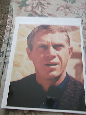 Vintage 8 x 10 in. Color  Glossy Photo of Steve McQueen