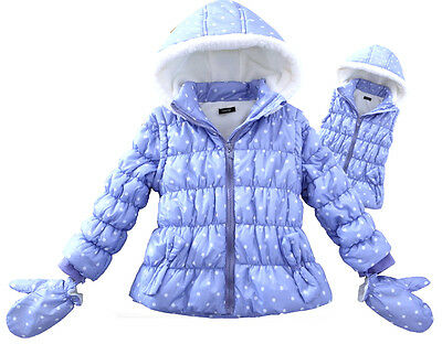 Girls Spot Puffer Jacket OR Vest With Hood