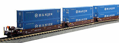 KATO 1066155 N  Maxi-I 5 Unit Set with 40' Containers AOK #58101 106-6155 - NEW
