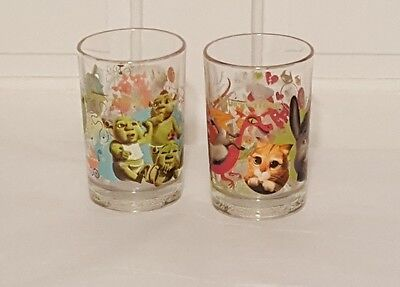 Shrek the Third McDonalds Collectable Cup Glass Set of Two