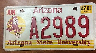 ASU Arizona State University License Plate Graphic Devil College Graduate- A2989
