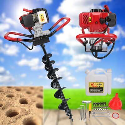 2.3HP Gas Powered Post Hole Digger w/ 6'' Inch Auger Bit 52cc One Man Engine Kit