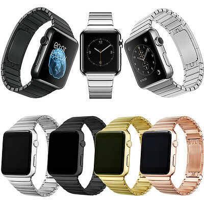 New Stainless Steel Butterfly Wrist Bracelet Strap Band For Apple watc 38mm/42mm