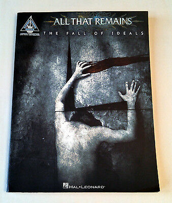ALL THAT REMAINS - The Fall of Ideals Rare Guitar Tab Songbook 2006 Hal Leonard