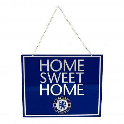 Chelsea Fc Metal 'home Sweet Home' Hanging Sign - Uk Seller - Fast Dispatch