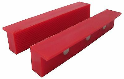 "ION TOOL Universal Soft Vise Jaws, Rubber Jaws 6"" Red"