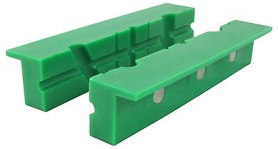 "ION TOOL Universal Multi-Groove Vise Jaws, Rubber Jaws 6"" Green"