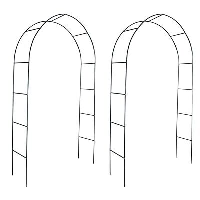 # 2pc Garden Metal Rose Arch 240cm Outdoor Wedding Patio Arbor Gardman Arbour Ga