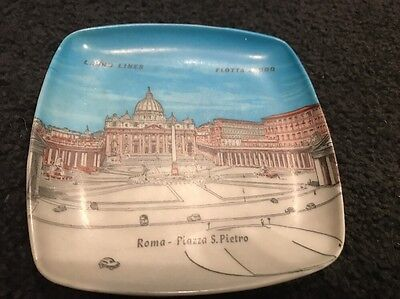Vintage c1960s SS Flotta Lauro Shipping Line Small Plate