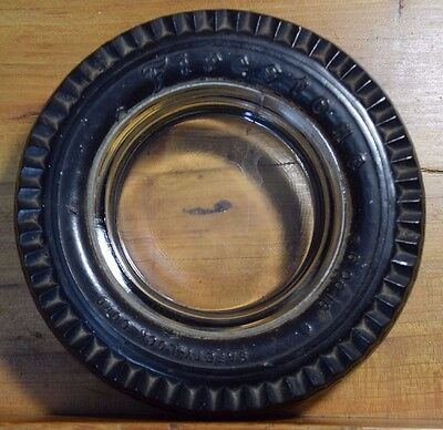 "Firestone Champion 6.00-16 Safety Lock Cord Gum Dipped 6"" Tire Ashtray Older"