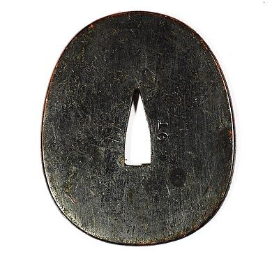WW2 Imperial Japanese Navy Tsuba Kai-gunto Military Sword Fitting 378