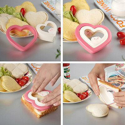 Cake Bread Toast Mold Sandwich Cutter Heart Shape DIY Heart Mould Maker 2017