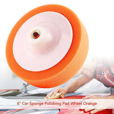 "6"" Orange Sponge Polishing Buffing Waxing Pad Wheel For Car Polisher Buffer AP"