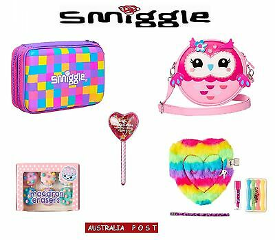 SMIGGLE Neon HardTop P/Case, Owl Hoot Bag, Fluffy Buddy Gift Pack, Macarons Box