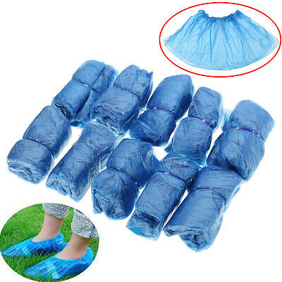 100PCS Boot Cover Plastic Disposable Protective Shoe Covers Overshoes Waterproof