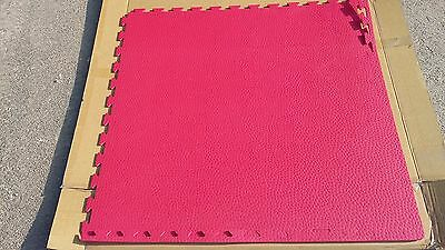 TATAMI AD INCASTRO qualita' CROSS FIT 100x100x1 rosso  offertissima € 12,99