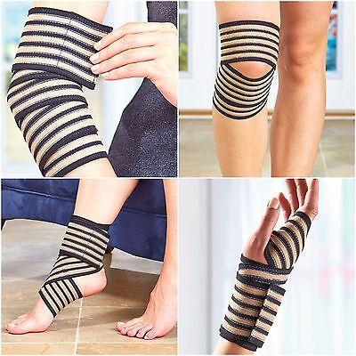 Copper Support Wrap All in One Bandage Support Sprains Elbow Wrist Knee Ankle