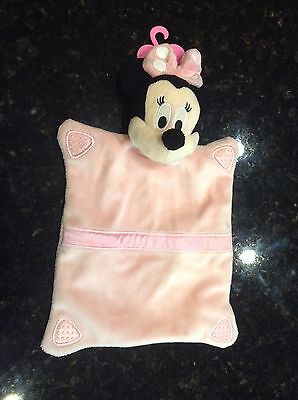 Disney Just Play Minnie Mouse Security Blanket Baby Lovey Pink Girls NWOT