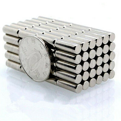 10/30/50pcs Super Strong Cylindrical Magnet D2 Rare Earth Neodymium 2mmX10mm