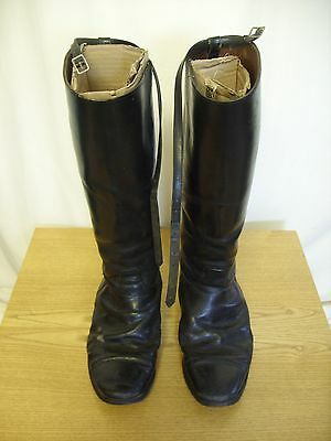Mens Riding Boots black size UK 9-9.5, well used, new insoles needed, 3093