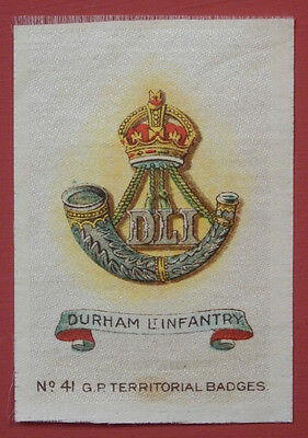 DURHAM LIGHT INFANTRY Silk Territorial Badge issued in 1913
