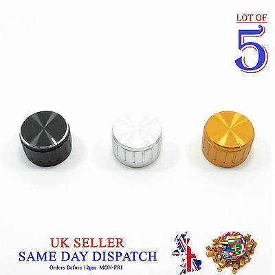 5x Push on Knob for Potentiometer Plastic Cap 26mm Different Colors